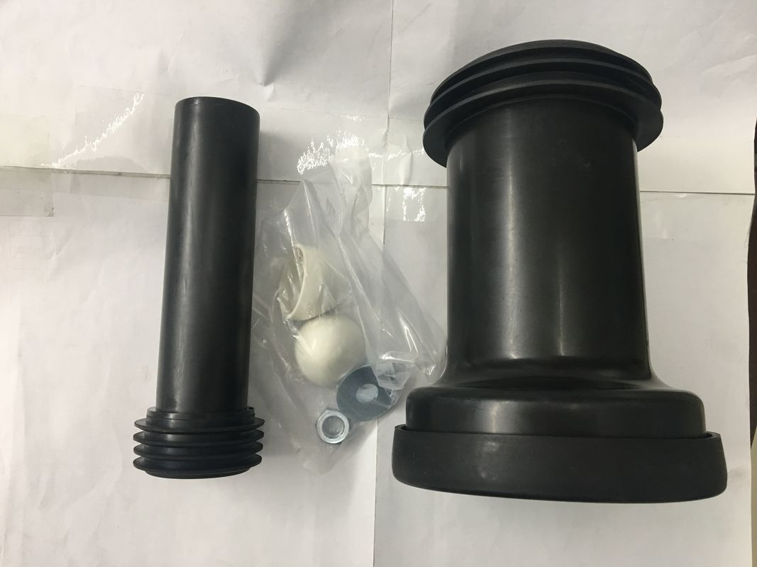 PVC Material Straight Toilet Connector , Embedded Toilet Waste Fittings